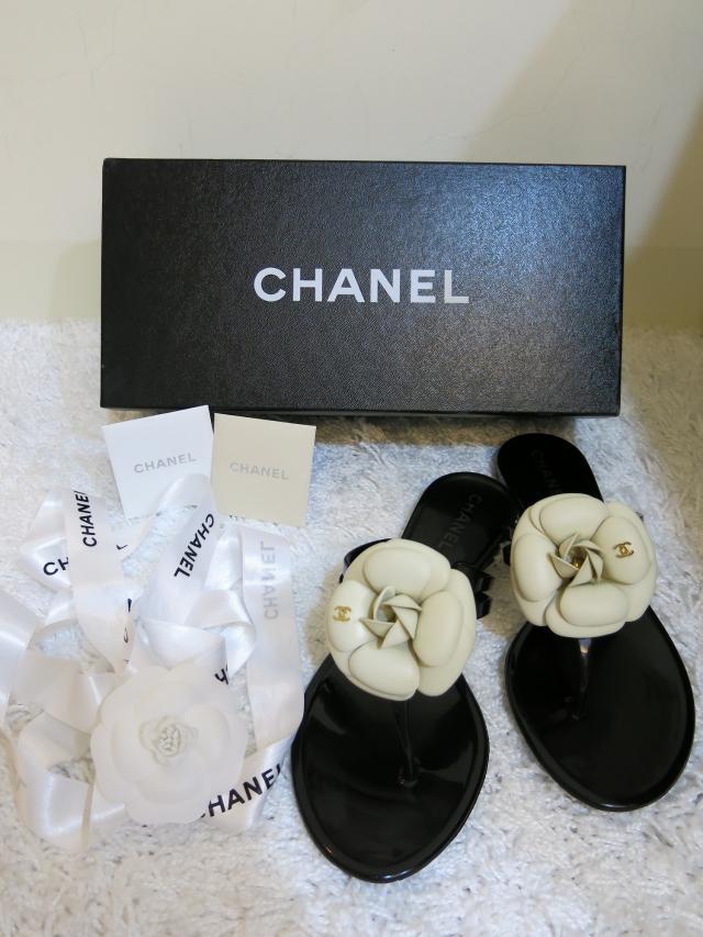 chanel 小香山茶花凉鞋