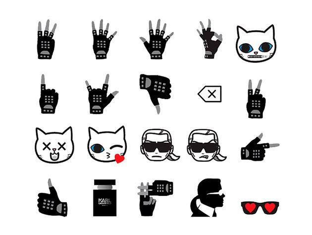 emoji也要时尚 老佛爷表情符号!