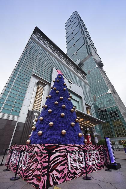 KENZO擴大時尚版圖進駐台北101,全球首座聖誕樹獨家巨獻!