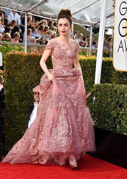 好萊塢明星 穿著Ferragamo出席第74屆金球獎頒獎典禮